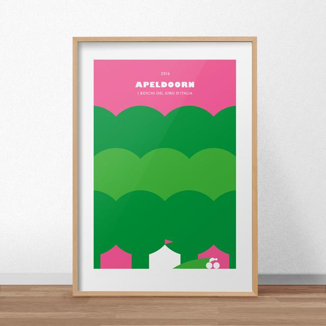 Apeldoorn_poster-mockup-houtenlijst_high_bruin