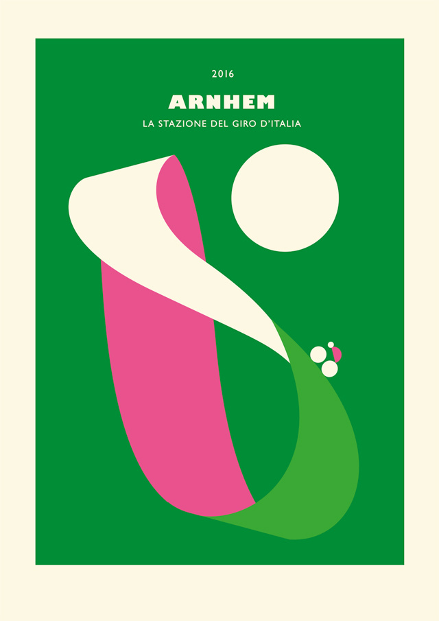 Arnhem, Poster La Stazione del Giro d'Italia