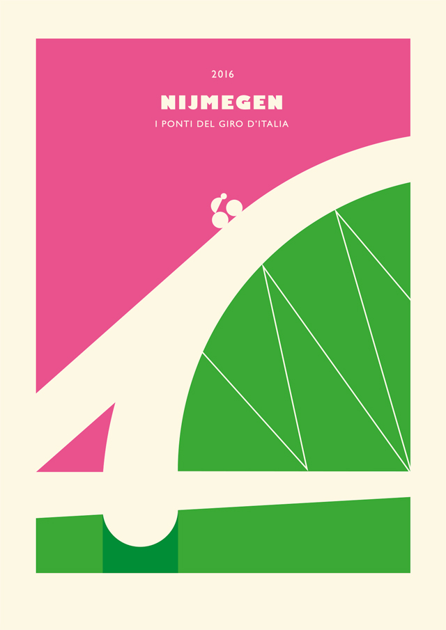 Poster Nijmegen, Il Ponte de Giro d'Italia