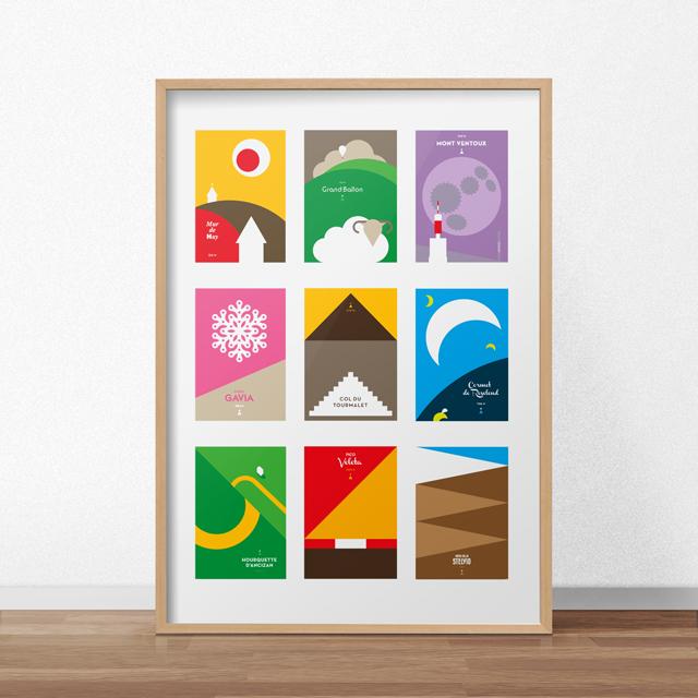 Collectie poster met lijst