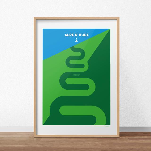 Poster Alpe d'Huez met lijst