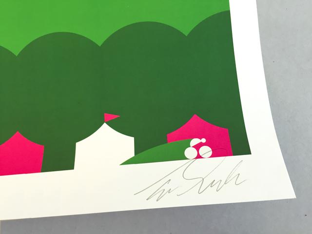 Gesigneerde poster Apeldoorn door Tom Dumoulin